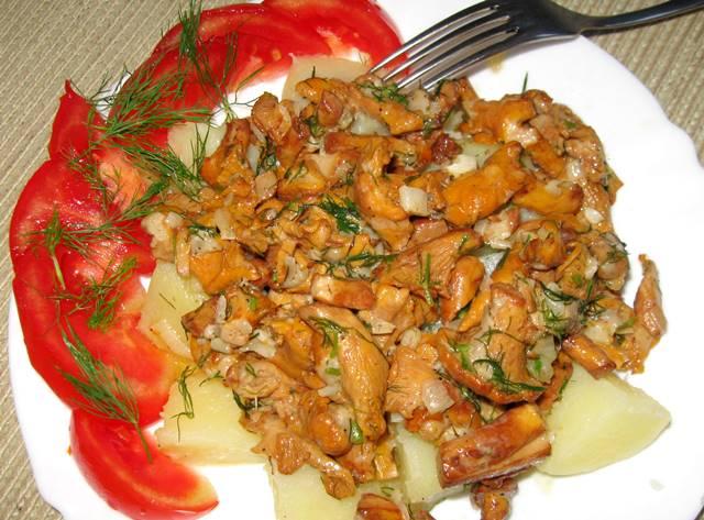 рецепт смажених лисичок