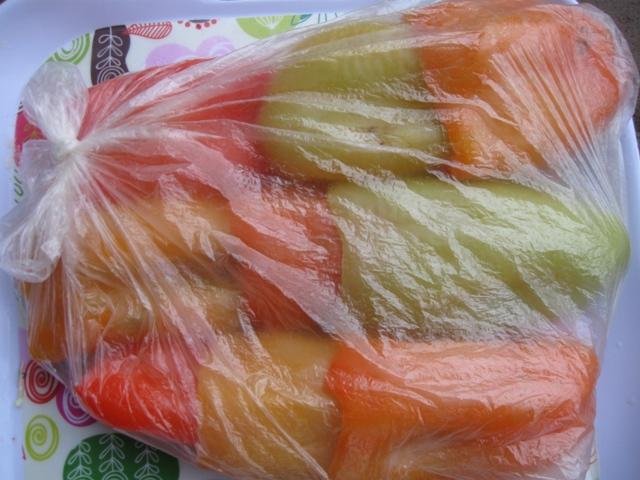 Заморожування болгарського перцю