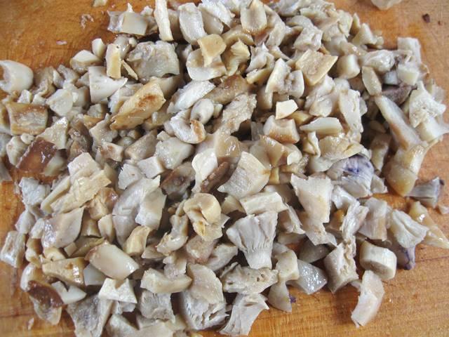 м'ясні торбинки з грибами