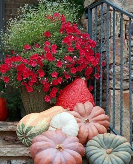 осінній декор тераси