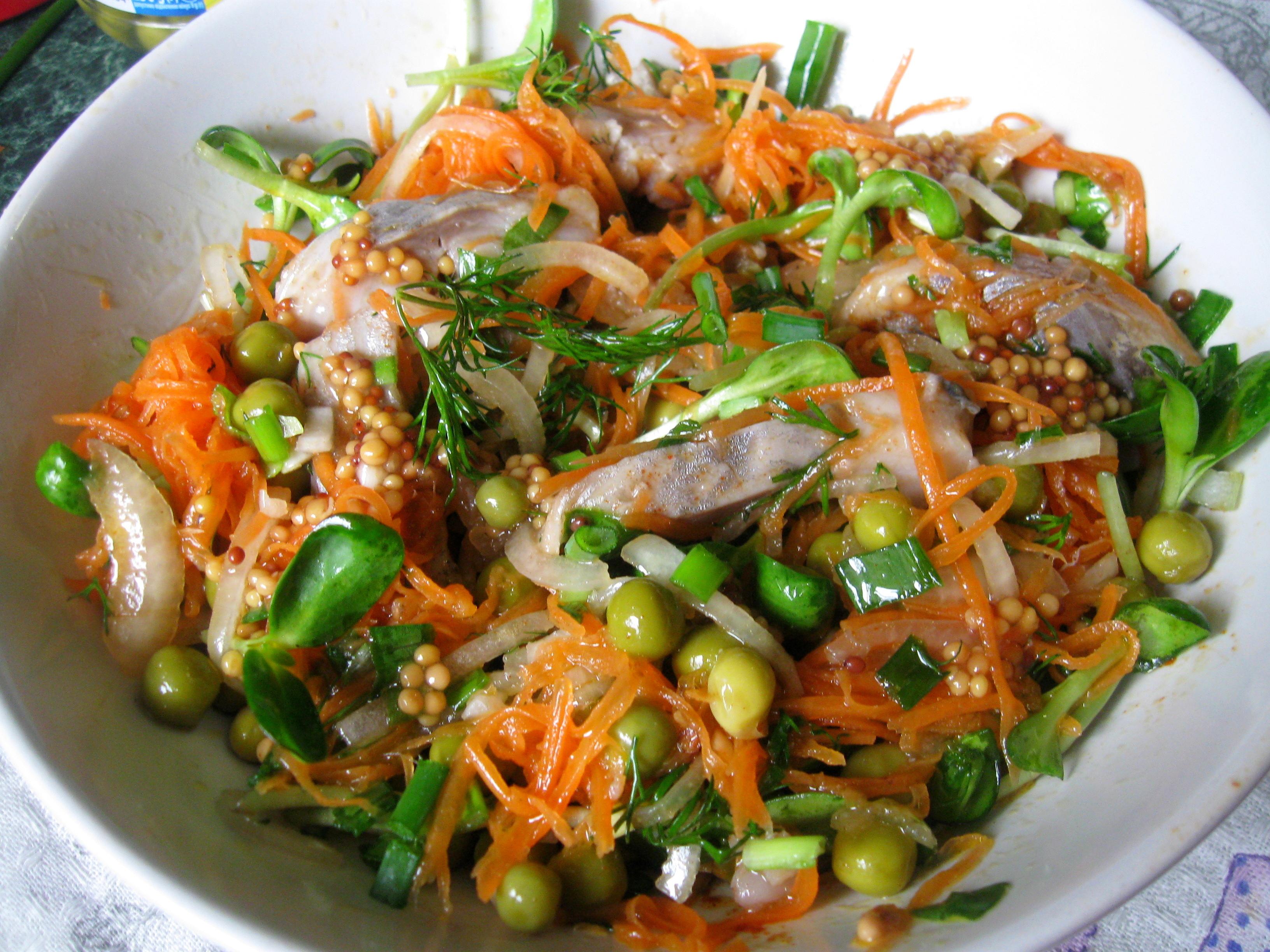 Салат з оселедцем та морквою по-корейськи